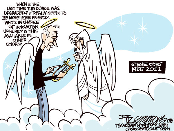 Steve Jobs, Steve Jobs In Heaven, Steve Jobs Cartoon
