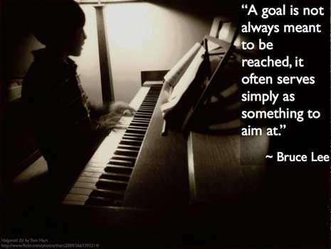 Goal To Be Reached - Bruce Lee
