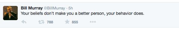 Bill Murray Tweet