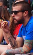Vegan Eating Hot Dog