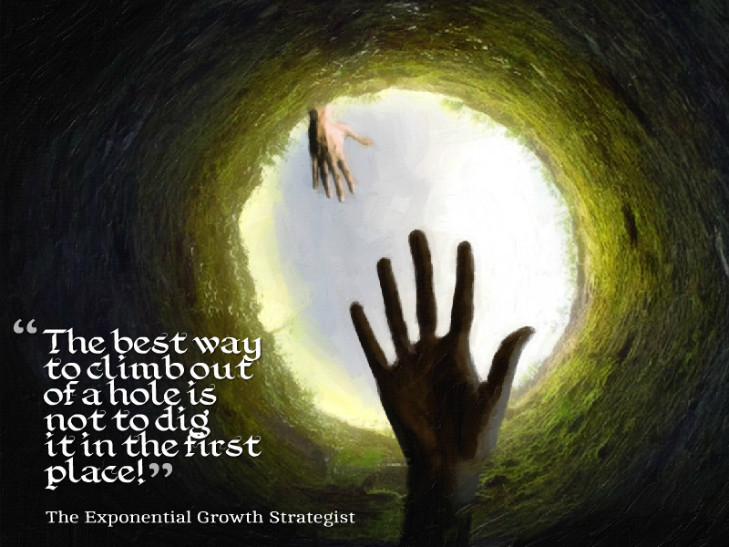 Dig Yourself Into A Hole - The Exponential Growth Strategist