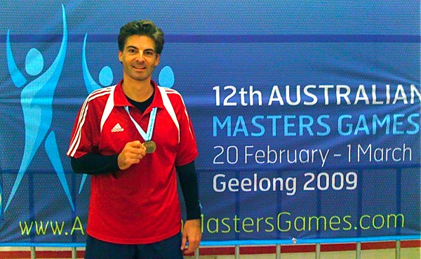 Dr Marc Dussault 2009 Australian Masters Silver Medallist Squash 45-49