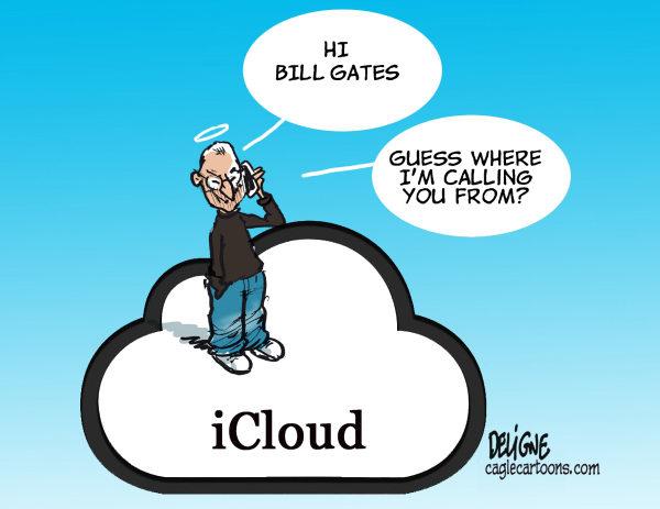 Steve Jobs, Steve Jobs In Heaven, Steve Jobs Cartoon