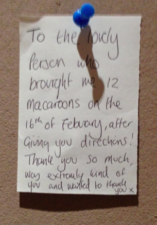 Thank you note - paying it forward