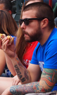 Vegan Eating Hot Dog